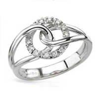 Ag American Diamond CLASSIC BELT SHAPE RING # KIR0001