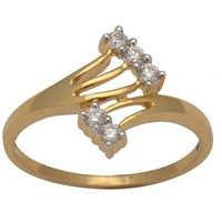 Ag American Diamond CLASSIC LOOK FIVE STONE RING # KIR0004