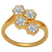 Ag American Diamond FANTACY LOOK RING # KIR0006