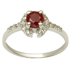 925 silver couple ring ruby & emerald silver ring 925 sterling silver pink gemstone rings