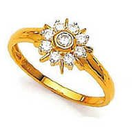 Ag American Diamond FANCY BOW FLOWER SHAPE DIAMOND RING # KIR0017