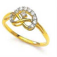 Ag American Diamond BIG SMILE FACE DIAMOND RING # KIR0018