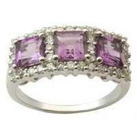 Amethyst Silver Ring Amethyst Stone Silver Rings,