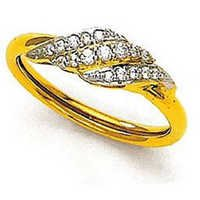 Ag American Diamond TWESTED TRILLENT SHAPE DIAMOND RING # KIR0020
