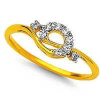 Ag American Diamond FANCY SHAPE DAILY WEAR DIAMOND RING # KIR0021