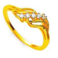 Ag American Diamond PARALLEL FANCY SHAPE DIAMOND RING # KIR0025