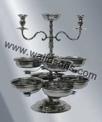 Silver Karahi Stand