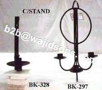 Candle Stand Wrought Iron Black