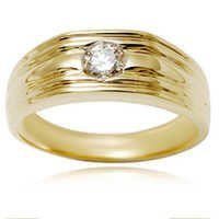Gold Plated CZ Silver Ring