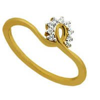 Ag American Diamond FANCY SWIRL FLOWER SHAPE DIAMOND RING # KIR0029
