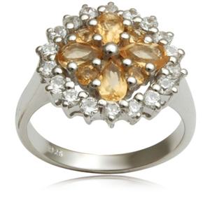 925 sterling silver ring with setting semi precious stone with silver ring wholesale