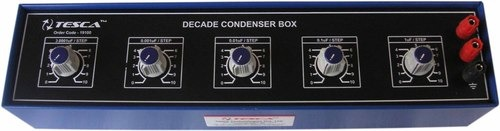 Decade Condensers Box - 5 Dials - 0.0001uf to 10uf