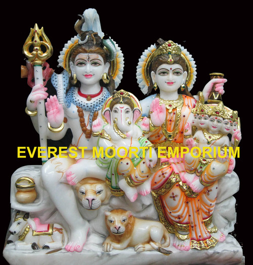 Marble Shiv-Parvati Statues