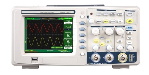 100 MHz Digital Storage Oscilloscope 500MS/s, 2 Ch, 5.7 Inch