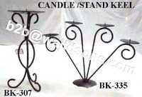 Candle Holder Wire Black