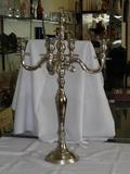 24inch Brass Base Nickel Plated Candle Stand