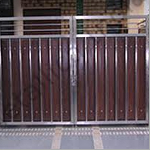 Stainless Steel Wooden Gates Stainless Steel Wooden