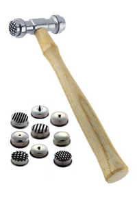 Texturing Hammer with 9 Interchangeable Faces