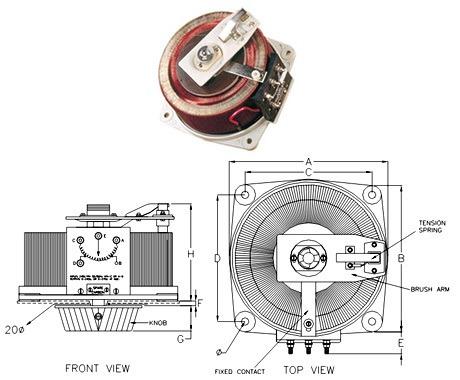 Variac - Single Phase Flush Back of Panel, Open