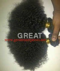 Hand Tied Weft Natural Curly Hair