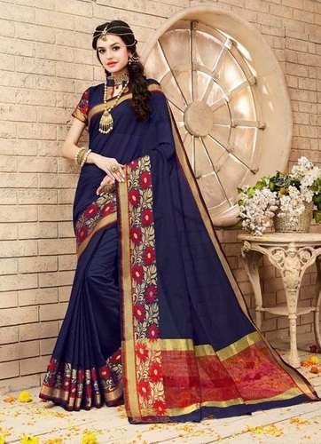 It's A Masterpiece Blue Woven saree
