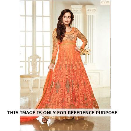Diya Mirza Orange Styliah Anarkali Suit