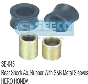 REAR SHOCK AB. RUBBER& WITH SB METAL SLEEVES