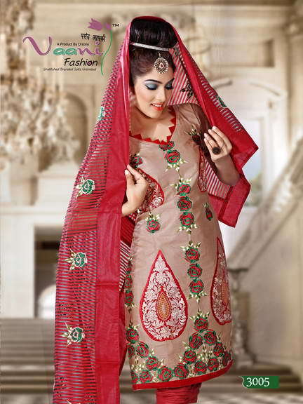 Designer Unstitched Ladies Suits