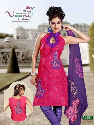 Embroidered Unstitched Silk Suits