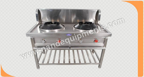 Double Burner Chinese Range