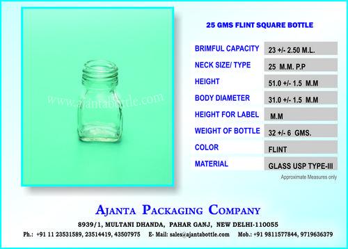 25 GM HONEY GLASS BOTTLE
