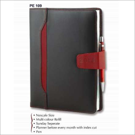 PU Cover Pocket Diary Book