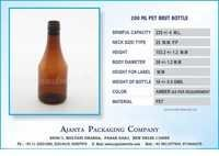 200 ML PET BRUT BOTTLE