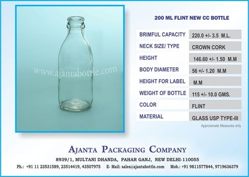 200 ML FLINT NEW CC BOTTLE