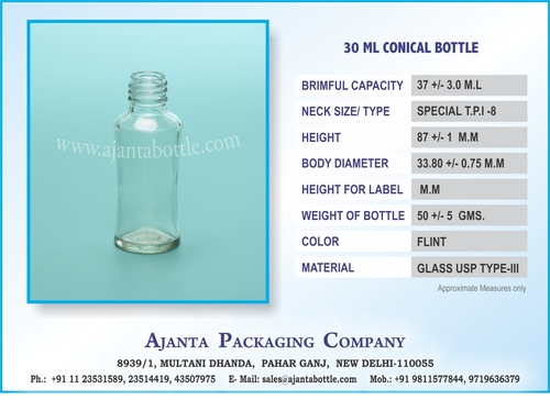 30 ML CONICAL BOTTLE