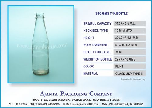 340 GMS TK BOTTLE