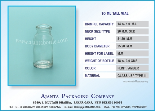 Injection Glass Vials