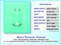 20 ML ATLAS VIAL CLEAR FLINT