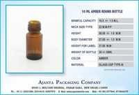 10 ML AMBER ROUND BOTTLE