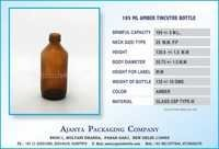 195 ML AMBER TINCUTRE BOTTLE