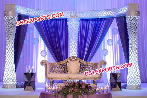 Asian Wedding Fiber Crystal Stage Set