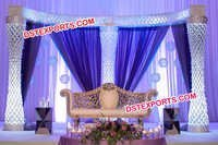 Asian Wedding Fiber Crystal Stage Set