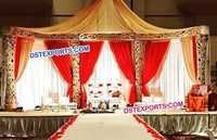 Muslim Wedding Gold Stage Set