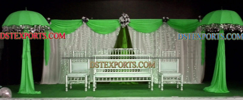 Muslim Wedding Mehandi Stage Decorations