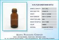 46 ML PLAIN AMBER ROUND BOTTLE