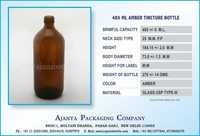 485 ML AMBER TINCTURE BOTTLE