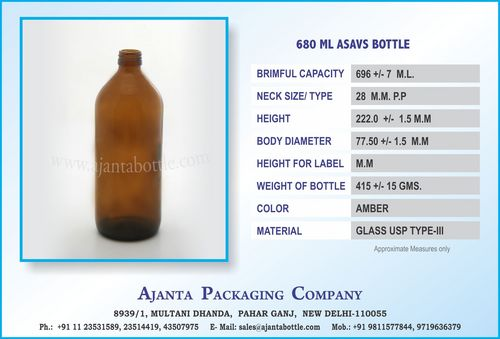 680 ML ASAVS BOTTLE