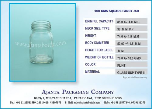 100 GMS SQUARE FANCY JAR