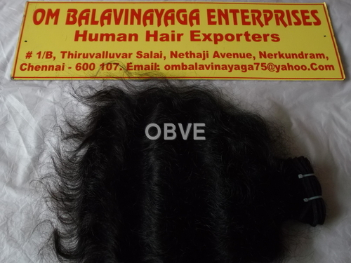 Indian Natural Curly Hair - Machine Weft