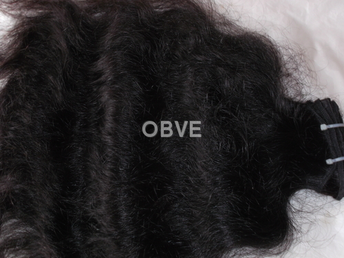 Natural Curly Human Hair - Machine Weft